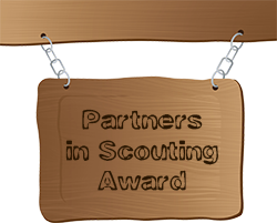 partners in Scouting award sign